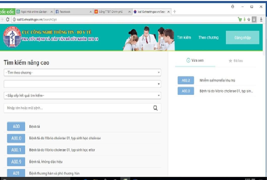 Cục Công nghệ Thông tin: Hướng dẫn sử dụng phần mềm ICD 10 trên Website và Mobile